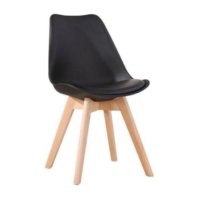 Cadeira Charles Eames Com Almofada Preta