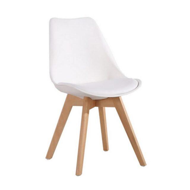 Cadeira Charles Eames Com Almofada Branca