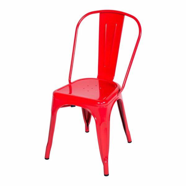 Cadeira Francesinha Tolix Vermelha
