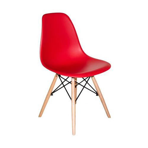 Cadeira Charles Eames Abs Vermelha