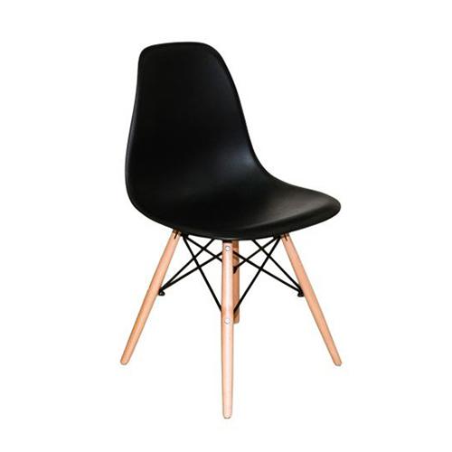 Cadeira Charles Eames Abs Preta
