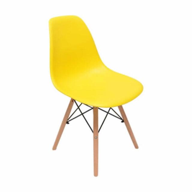 Cadeira Charles Eames Abs Amarela