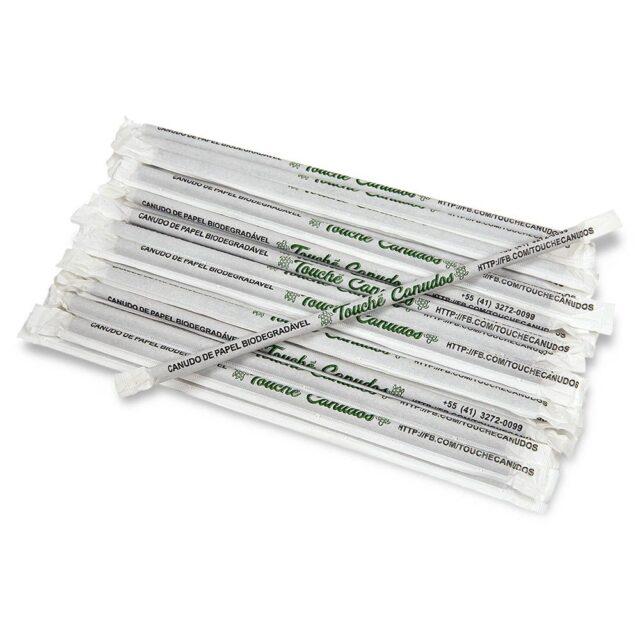 Canudo Biodegradável Branco (100 unidades)
