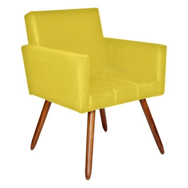Poltrona Decorativa Amarela - UMIX 100