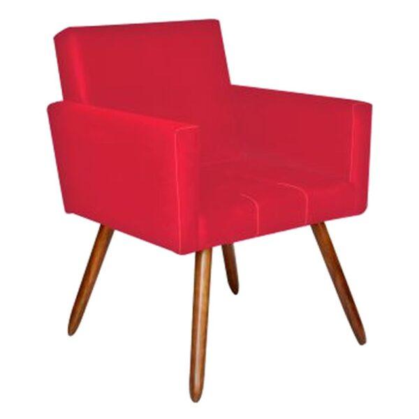 Poltrona Decorativa Vermelha - UMIX 100