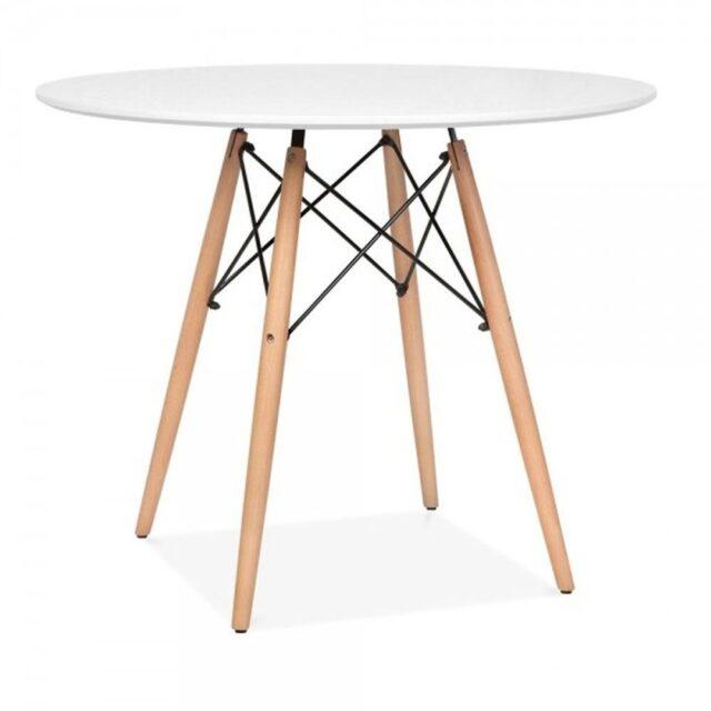 Mesa de Jantar Eames 80cm Branca