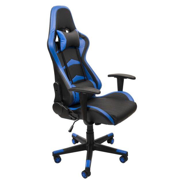 Cadeira Gamer Profissional Giratória Reclinável Azul